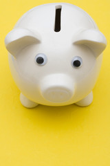 Piggy bank with copy space, savings