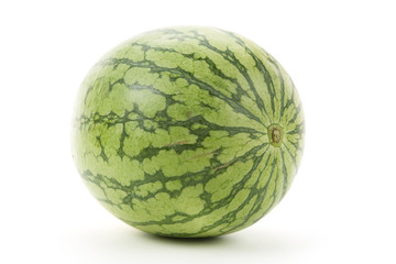 Green Watermelon with white background