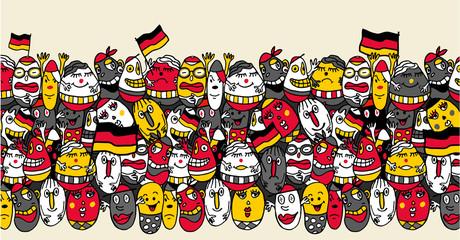 supporters allemands cartoon