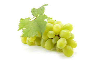 green grape isolated on white