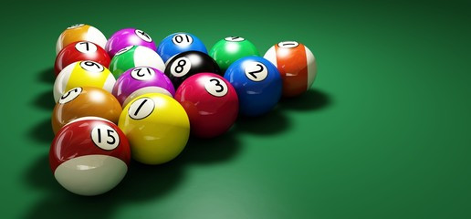 billiard balls widescreen