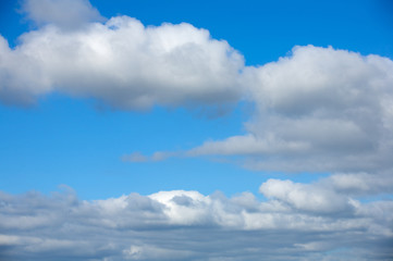 Photo of white clouds and blue sky