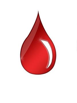 goutte d'eau rouge