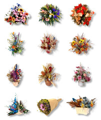 twelve very pretty bouquet of flower for celebrate