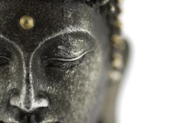 Autocollant pour porte Buddha statue de bouddha sur fond blanc