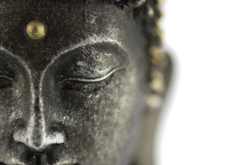 Aluminium Prints Buddha statue de bouddha sur fond blanc