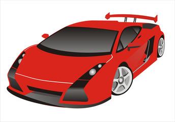 Sportcar in color