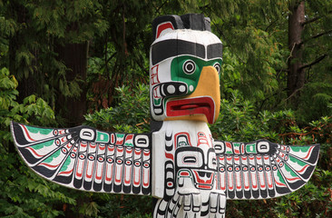 Totem Pole in Vancouver BC