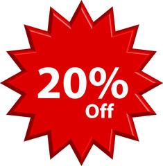 Sale - Twenty Percent Off