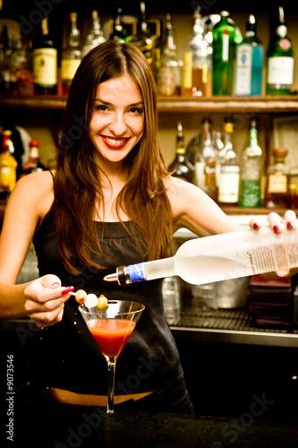 Female bartender