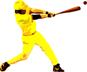 Vector -  Baseball player isolated on background