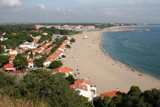 La plage d'Argeles sur mer
