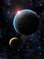 Two planets illustration