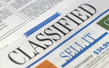 Newspapers - Classified section