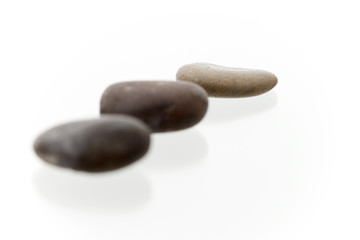 Very high resolution shot with shallow dof. Focus on 3th pebble.