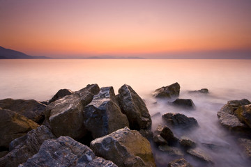 Sunset and Rocks