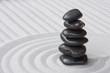 Steine auf Sand (Zen)