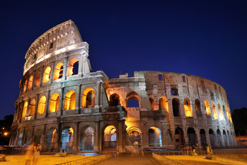 Photo sur Aluminium Rome Colosseum