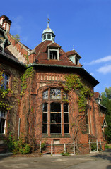 Photo sur cadre textile Ancien hôpital Beelitz Beelitz Heilstätten - leerstehende Ruine