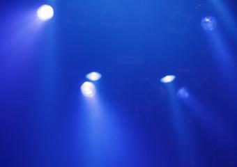 Blaues Konzert-Licht
