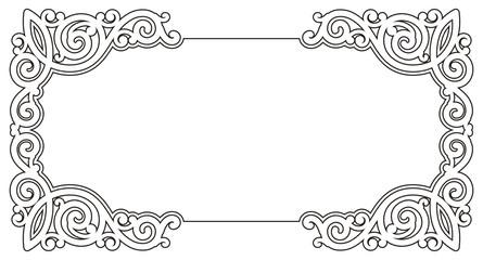 Ornamental frame-b