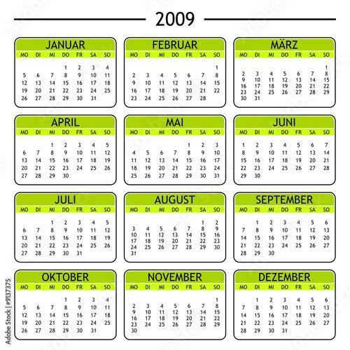 """kalender 2009"""" Stockfotos und lizenzfreie Vektoren auf Fotolia.com ..."""