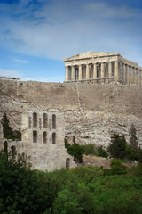the famous acropolis of athens