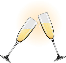 Illustration of champagne glasses