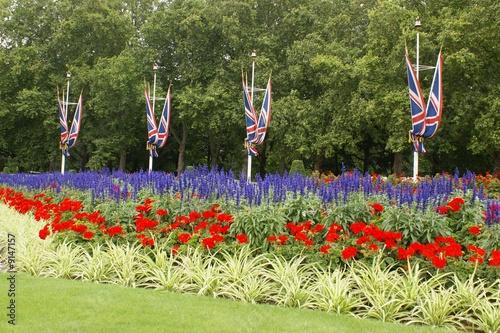 Massif de fleurs d 39 un jardin anglais photo libre de for Voyage jardins anglais