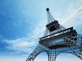An illustration of the Eiffel tower in Paris Fototapete