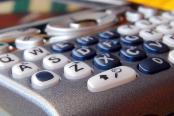 Smartphone - Detail of the keyboard