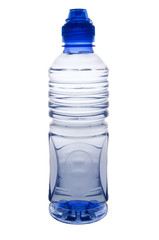 portrait view of a water bottle with clipping path