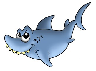 Blue smiling shark