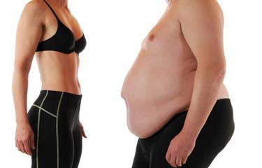 Schlank und fett