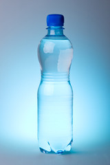 Pure water in a plastic bottle
