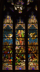 Conquering King Stained Glass Saint Patrick's Cathedral NYC