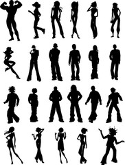 Silhouette People Clip Art Graphic Design Image Illustration