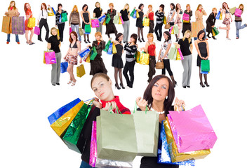 """shopping is all we need - of """"Shopping women"""" multiple series"""