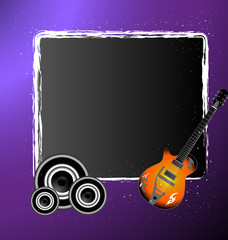 An awesome music banner illustration