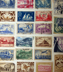 OLD FRENCH POSTAGE STAMPS.