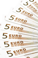 object on white - European bank paper