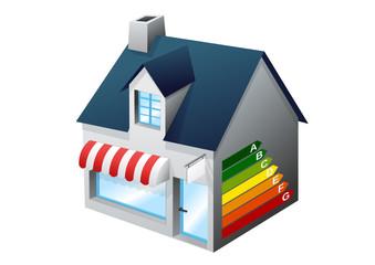 Performance énergétique d'un petit commerce (détouré)