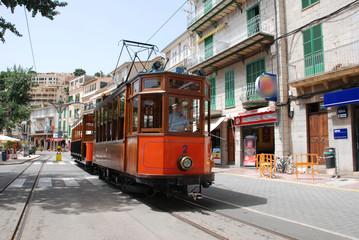 historische Strassenbahn in Port de Soller - Mallorca - Spanien