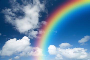 nuage arc en ciel paradis rêve heureux bonheur avenir bleu