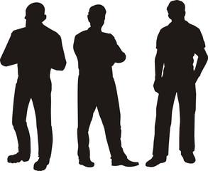Silhoutte Of Men Standing