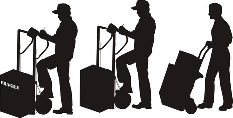 Silhoutte of Men Shipping