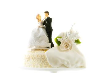 Detail of traditional wedding cake