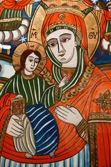 beautiful romanian orthodox religious icon  painting