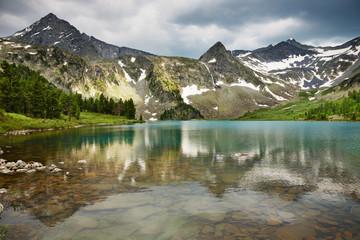 Wall Mural - Beautiful lake in Altai mountains
