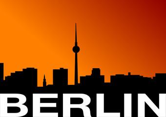 Illustration Skyline Berlin